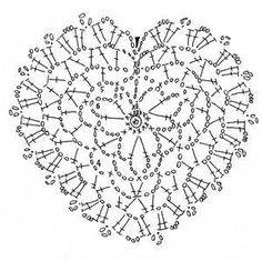 crochet heart shape pattern