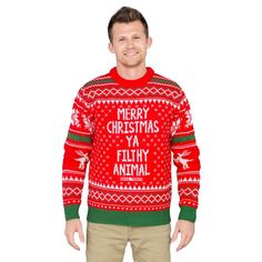 100+ Iron 6th Anniversary Gifts for Him - Unique Gifter Christmas Sweaters For Women, Ugly Christmas Sweater, Reindeer Ugly Sweater, Home Alone Movie, 6th Anniversary Gifts, Merry Christmas Ya Filthy Animal, Senior Gifts, Warm Sweaters, Animal Sweater