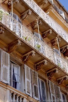 Beautiful balconies in Kerkyra old town - a week in Corfu     Cooksister.com #travel #Greece #Corfu #Kerkyra