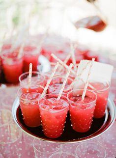 Signature cocktail recipe: Summer Watermelon Refresher from Paula LeDuc Fine Catering | paulaleduc.com Photography: Meg Smith Photography - megsmith.com Catering: Paula LeDuc Fine Catering - paulaleduc.com Read More: http://www.stylemepretty.com/2013/10