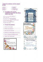 English worksheet invitation cards making invitations english worksheet invitations stopboris Gallery