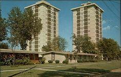 title twin towers highrise apartments poplar bluff missouri mo chrome ...