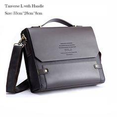 2016 Big Promotion! Men Leather Briefcase High Quality Business Shoulder Bags Men Messenger Bags A9111-1
