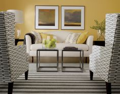 Parker chairs play well in pairs! Ethan Allen living rooms.