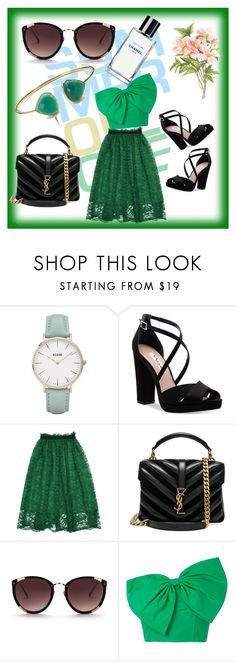 """Untitled #5"" by mirela-saletovic ❤ liked on Polyvore featuring CLUSE, Nina, Yves Saint Laurent, Rebecca Taylor and Bambah"