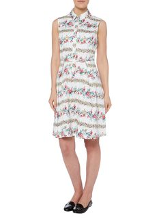 Womens White Floral Patterned Sundress | Tu clothing