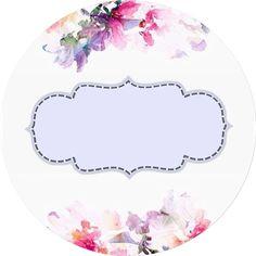 F bs de baja kg a Frame Floral, Flower Frame, Printable Labels, Printable Paper, Printables, Diy And Crafts, Paper Crafts, Binder Covers, Borders And Frames