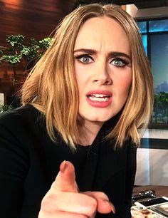 Adele on Ellen. Follow rickysturn/amazing-women