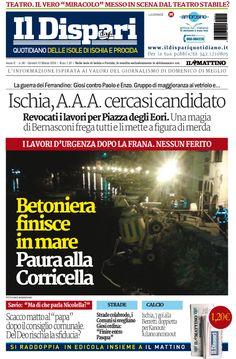 La copertina del 10 marzo 2016 #ischia #ildispari