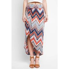 Abbeline Printed Sarong Maxi Skirt (£70) ❤ liked on Polyvore featuring skirts, multi, patterned skirts, long skirts, multi color maxi skirt, print skirt and long print skirt