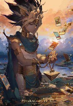 Atem,Pharaoh-The Pharaoh YuGiOh Atem Pharaoh DuelMonsters Card Anime Art AnimeArt Manga Anime, Art Manga, Art Anime, Fanarts Anime, Anime Characters, Manga Drawing, Fullhd Wallpapers, Animes Wallpapers, Manga Comics