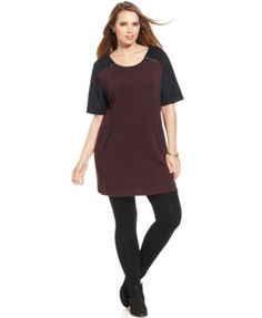 Style&co. Plus Size Zippered Colorblocked Tunic | macys.com
