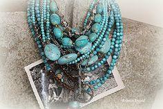 A Re-Purposed Life: Working,Working. Gypsy Jewelry, Boho Jewellery, Handmade Jewellery, Boho Fashion, Fashion Jewelry, Hippie Gypsy, Turquoise Jewelry, Artisan Jewelry, Outfit