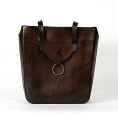 Large Brown Leather Tote By Beara Find This Pin And More On Handmade Handbags Uk