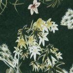 Tissu Jersey Vert Sapin Imprimé Fleurs