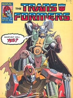 """Just for fun, yes? Made my own """"Death's Head - Transformers appearances"""" collection cover in Photoshop. Featuring the art of Dave Gibbons, Will Simpson, Bryan Hitch and of course, Geoff Senior. Transformers Collection, Transformers Art, Gi Joe, Anime Comics, Marvel Comics, Comic Book Characters, Comic Books, Bryan Hitch, Dave Gibbons"""