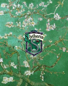 Slytherin<<<< I love how the background is flowers. I feel like it's very anti-stereotypical