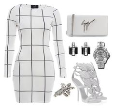 """""""Untitled #320"""" by fashionkill21 ❤ liked on Polyvore featuring AX Paris, Giuseppe Zanotti, Kenneth Jay Lane, Rolex and Versace"""