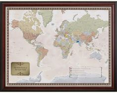 World Traveler Map...they also have US maps, ballpark maps, and maps of other countries...I need one!