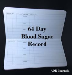 Midori Insert 64 Day Blood Sugar Record for Midori or Fauxdori Travelers Notebook Covers. 9 Travelers Notebook Sizes 26 Cover Colors by AORJournals from AOR Journals by Ann. Find it now at http://ift.tt/2e5dciZ!