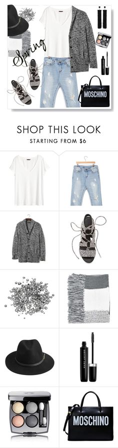 """""""White tshirt and a jean is always a good idea."""" by gul07 ❤ liked on Polyvore featuring H&M, stylebyyam, Banana Republic, Rebecca Minkoff, Topshop, BeckSöndergaard, Marc Jacobs, Chanel, Moschino and Tom Ford"""