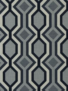 Navy Geometric Upholstery - Indoor Outdoor Fabric - Woven Upholstery Yardage - Diamond Design - Furniture Material - Navy and Grey