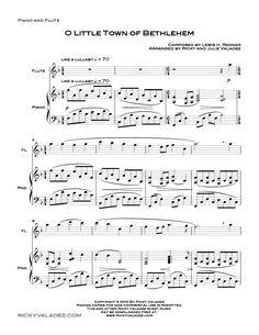 O Little Town Of Bethlehem (by Ricky Valadez -- Flute, Flute Solo)