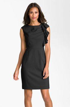 Black hair, black dress