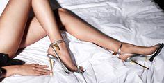 Tom Ford Metallic Ankle-Lock Sandal, Silver | Buy ➜ http://shoespost.com/tom-ford-metallic-ankle-lock-sandal-silver/