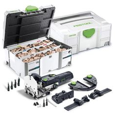 Festool Domino Joiner DF 500 Q Set and 1,060-Piece Tenon Assortment Systainer Festool Tools, Mortise And Tenon, Joinery, Ice Money, Wood, Carving, Woodworking, Carpentry, Woodwind Instrument