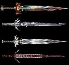 """Sacrothul's Commissions. RESERVED for the game he is making. Broadsword* """"Heavy sword with broad blade serves as main weapon to all legions across Zenn continent. Its weigth makes it ea..."""