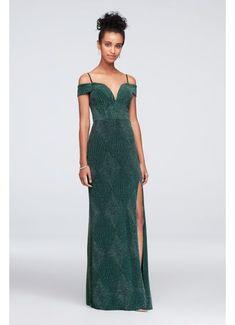 d76b1f307ba9a Deep V-Neck Cold Shoulder Glitter Sheath Gown 1499HN3B Junior Prom Dresses