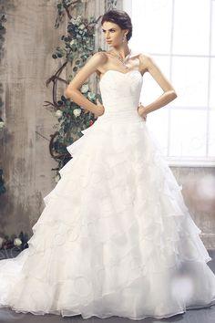 Divine A Line Sweetheart Chapel Train Organza Wedding Dress CWLT13029 $399.00 wedding dress, wedding dress, wedding dress, wedding dress, wedding dress