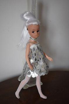 Net Stockings, Sindy Doll, Rhinestone Choker, Lace Headbands, Handmade Clothes, Brown Sugar, Her Hair, Headpiece, White Lace
