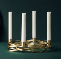 Stelton Tangle Kerzenständer Advent 4 flg.