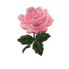 Tropical Hanging Plant Flower Fuchsia Embroidered Iron On Applique Patch