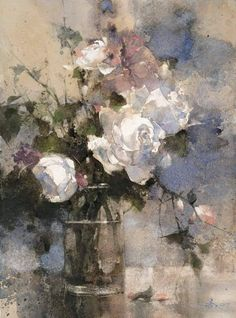 The Direction of Heart 37 x 27 cm . Watercolor demo by 簡忠威 Chien Chung-Wei Watercolor Leaf, Watercolor Artists, Watercolor Flowers, Watercolour Paintings, Watercolours, Still Life Art, Abstract Flowers, Beautiful Paintings, Art Blog