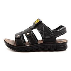 Boys' Shoes Comfort Flat Heel Leather Sandals with Magic Tape