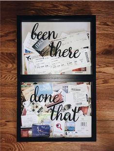 Many people believe that there is a magical formula for home decoration. You do things… Crafts To Do, Home Crafts, Diy Home Decor, Vacation Memories, Travel Memories, Travel Wall Decor, Boyfriend Gifts, Diy Gifts, Stuff To Do