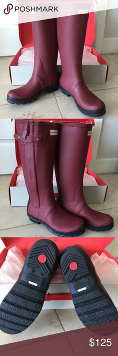 "Hunter ORG Slim Two Tone Rain Boots Hunter Boots r heavy, so I have to pay label upgrade fee.                 Brand new w/ original packaging  Size:7 Color:lava red A lightly textured shaft updates Hunter's fan-favorite ""Original"" rain boot.A hidden side-zip closure makes it easier to put on and take off, and chunky lugging at the sole offers excellent traction on wet or dry surfaces.  🍀Price is FIRM🍀  💯AUTHENTIC   ❌Trades ❌Holds All sales r final Hunter Boots Shoes Winter & Rain Boots"