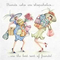 Cards » Friends who are shopaholics » Friends who are shopaholics - Berni Parker…