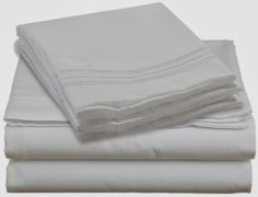 Bed Sheets Bedding Set, Queen Size, White, 100% Soft Brushed Microfiber with Deep Pocket Fitted Sheet
