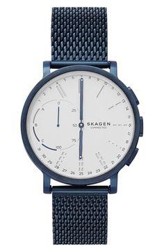 Skagen Hagen Connected Mesh Strap Hybrid Smart Watch, 42mm available at #Nordstrom