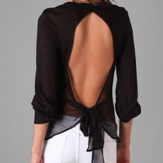 I love the idea of backless shirts/dresses...but seriously, what do you girls do about a bra in these?!?!