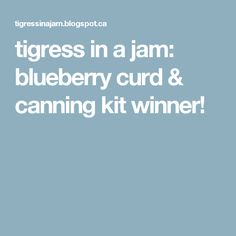 tigress in a jam: blueberry curd & canning kit winner!