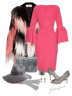 """Roksanda Margot bell-sleeved crepe dress"" by shadedlady ❤ liked on Polyvore featuring Rodarte, Roksanda, Nancy Gonzalez, Dolce&Gabbana, John Hardy, Brixton, Botkier, Chanel and contest"