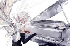 Website | Facebook | Tumblr | Pixiv | Twitter D Gray-Man art prompt - Wings of piano (Deemo) Allen Walker / D.Gray-Man DISCLAIMER: not reupload my art without permission/pro...
