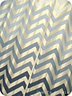 DIY Ombre Chevron curtains  -Light color unknown  -Lowe's Valspar in Satin Base 2 Antique Blue  -Base 1 Paradise Blue  -Olympic Base 2 Satin Rendezvous