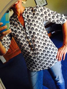 Love the chevron pattern on this!!! I really love this blouse for work.