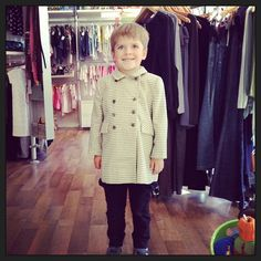 Milo wearing vintage Sask Fifth Avenue